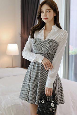 BACKORDER - Antoria Collar V-Neck Mini Dress