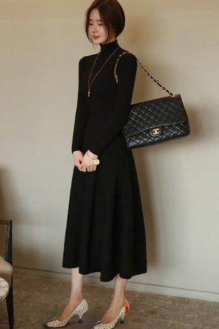 BACKORDER - Candice Turtleneck A-line Sleeve Dress