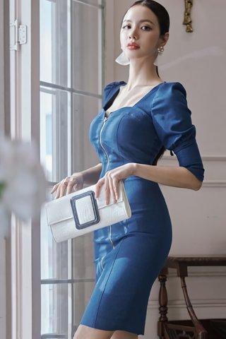 BACKORDER - Celia Back Tie Denim Dress