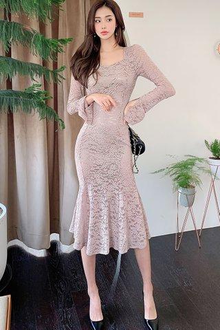BACKORDER - Charlotte Lace Midi Dress