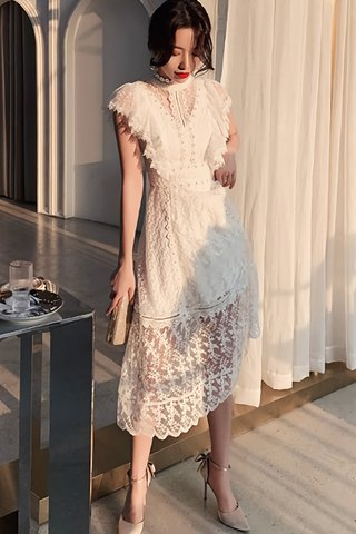 INSTOCK - Clarissa Floral Lace Overlay Dress