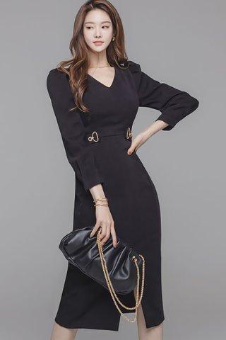 BACKORDER - Grace V-Neck Sleeve Dress
