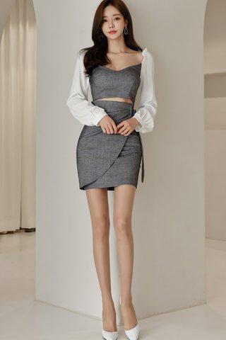 BACKORDER - Janel Sleeve Cutout Mini Dress