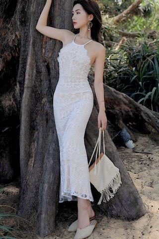 BACKORDER - Jovian Lace Bareback Criss Cross Dress