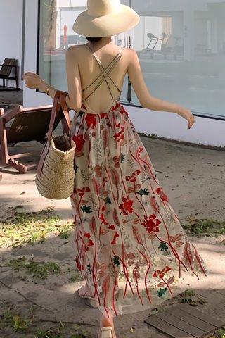 BACKORDER - Juliana Floral Bareback Criss Cross Dress