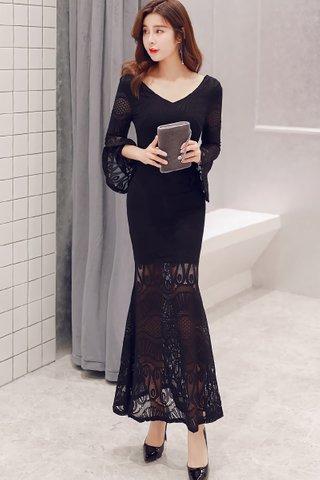 INSTOCK - Kayce V-Neck Bell Sleeve Lace Dress