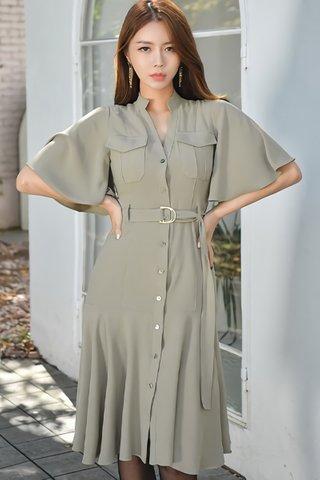 BACKORDER - Kiane Flutter Sleeve Dress