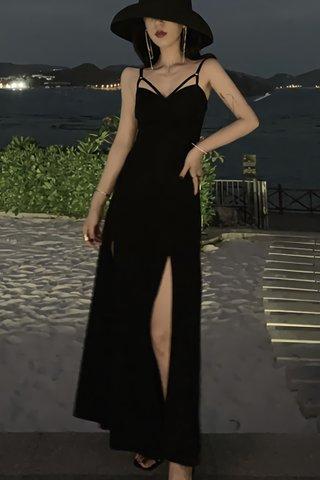 BACKORDER - Kristy Strap Side Slit Dress