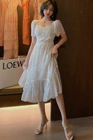 BACKORDER - Laura Polka Dot Ruffle Hem Dress