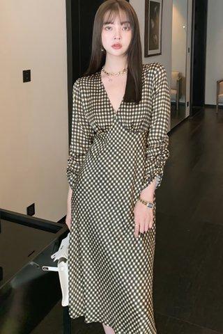 BACKORDER - Maisa V-Neck Gingham Dress