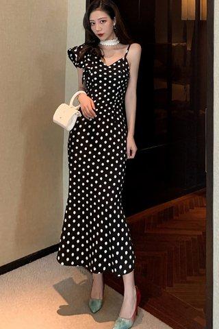 BACKORDER - Mariane Ruffle Sleeve Polka Dot Dress