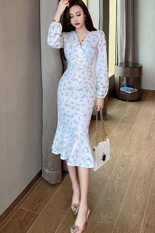 BACKORDER - Melody Floral Ruffle Hem Dress