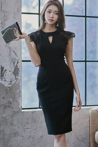 INSTOCK - Shireen Keyhole Lace Shoulder Dress