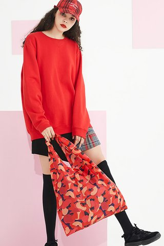 INSTOCK - Kedi Reusable Eco Bag In Abstract Floral