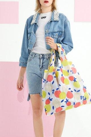 INSTOCK - Kedi Reusable Eco Bag In Berry Lemon