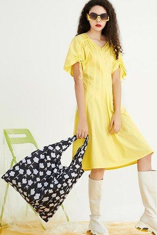 INSTOCK - Kedi Reusable Eco Bag In Floral Silhouette