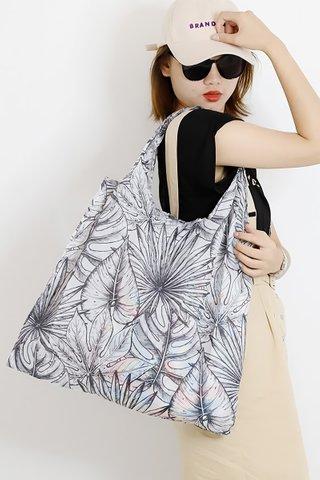INSTOCK - Kedi Reusable Eco Bag In Tropical Leaves