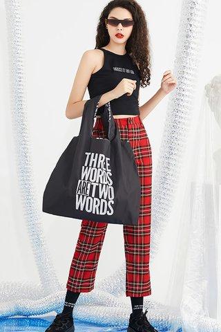 INSTOCK - Kedi Reusable Eco Bag In Word Design