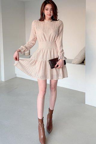 BACKORDER - Alsher Sleeve Ruffle Hem Dress