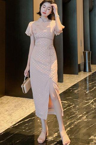 BACKORDER - Alynn Puff Sleeve Polka Dot Dress