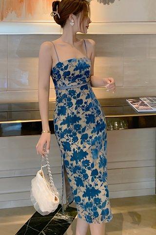 INSTOCK - Charis Strap Floral Back Tie Dress