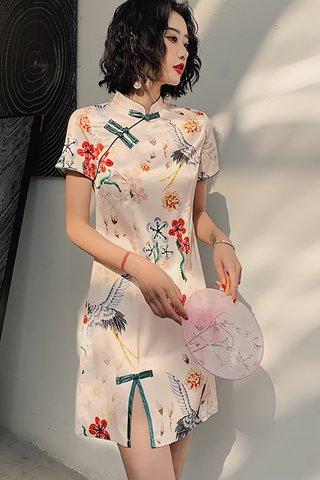 BACKORDER - Clarie Floral Phoenix Cheongsam