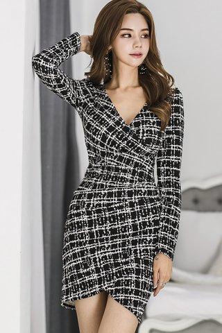 BACKORDER - Clarra V-Neck Sleeve Asymmetrical Dress