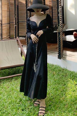BACKORDER - Dalphin Sleeve Deep V-Neck Maxi Dress