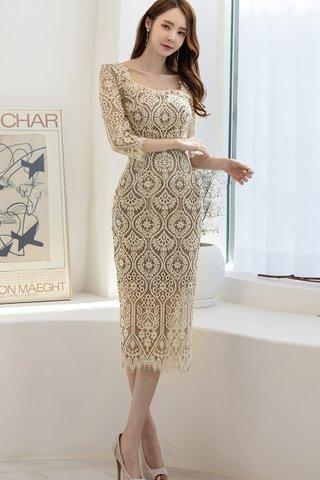 BACKORDER - Erlina Sleeve Lace Midi Dress