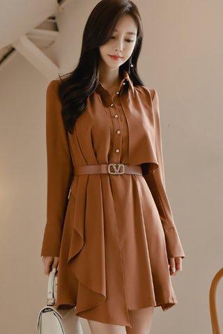 BACKORDER - Haren Collar Sleeve Mini Dress