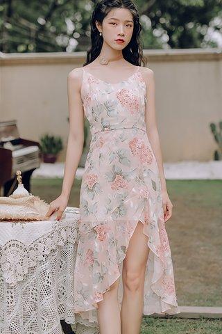 BACKORDER - Hera Floral Cascade Ruffle Dress