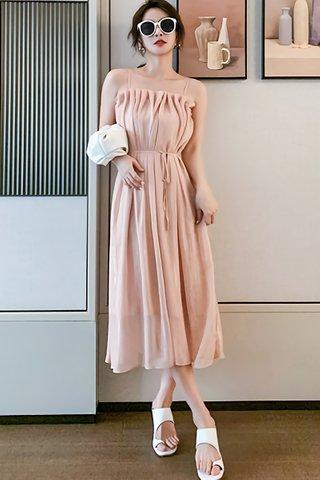 INSTOCK - Janet Gathered Fold Flow Dress