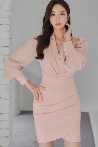 INSTOCK - Jayanne Collar Sleeve Foldover Dress