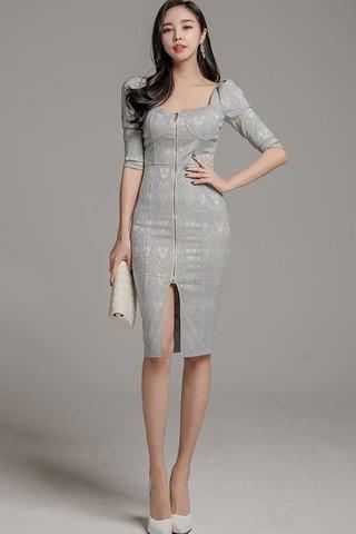 BACKORDER - Kelanie Lace Print Zipper Dress