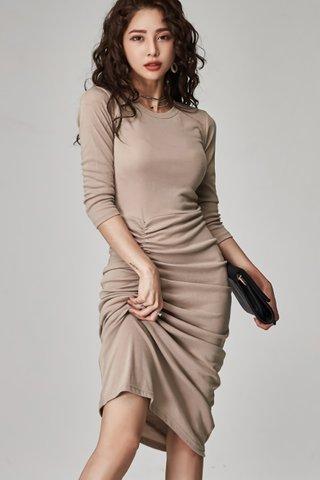 BACKORDER - Kerlyn Sleeve Side Ruched Dress