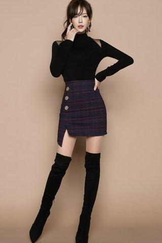 BACKORDER - Manda Shoulder Cut Out Top WIth Skirt Set