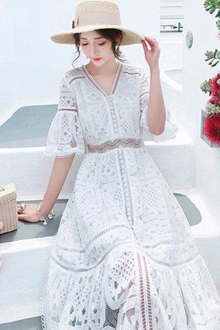 INSTOCK - Maryln V-Neck Single Breasted Dress