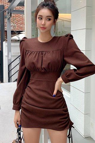 BACKORDER - Merci Sleeve Ruched Mini Dress