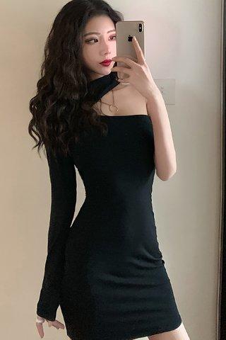 BACKORDER - Nerlyn High Neck Cut Out Mini Dress