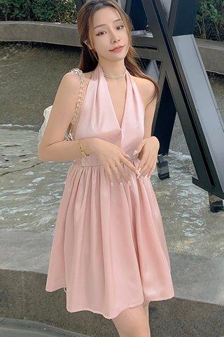 BACKORDER - Olivia Deep V-Neck Bareback Mini Dress