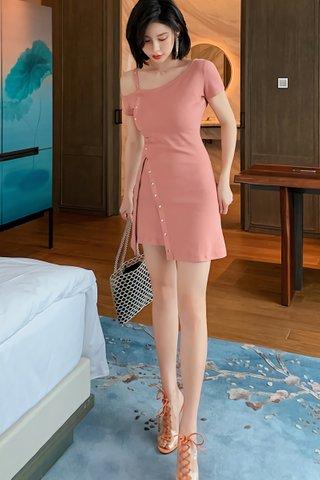 BACKORDER - Roslina Cold Shoulder Side Cut Out Dress