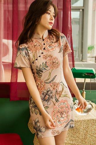 BACKORDER - Santorin Sleeve Floral Mini Dress