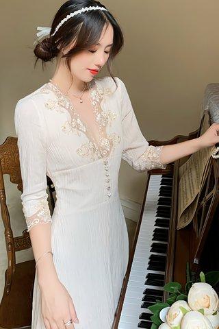 BACKORDER - Stancy Floral Lace V-Neck Dress