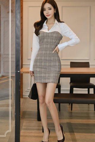 BACKORDER - Alorie Collar Plaid Dress