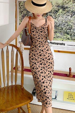 BACKORDER - Charcie Floral Print Crinkle Dress