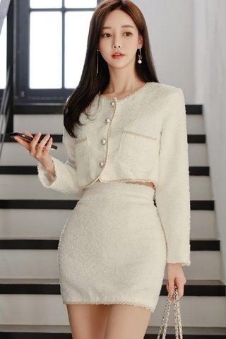 BACKORDER - Donelle Sleeve Crop Top With Skirt Set
