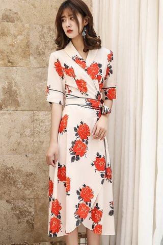 BACKORDER - Elenora Floral Wrap Dress