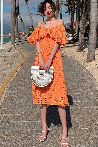 BACKORDER - Fernina Off shoulder Eyelet Dress