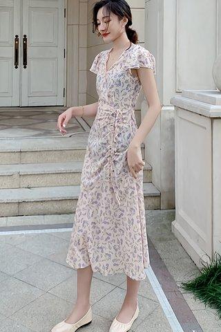BACKORDER - Heilanie Floral Ruched Dress