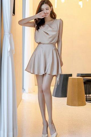 BACKORDER - Janme Sleeveless Top With Mini Skirt Set